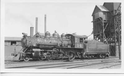 OE652 RP 1936 ESCANABA & LAKE SUPERIOR RAILROAD 460 LOCO #14 WELLS MICHIGAN