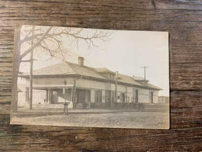 c.1900 Stanton TX Railroad Depot Texas & Pacific Real Photo Postcard RR RPPC