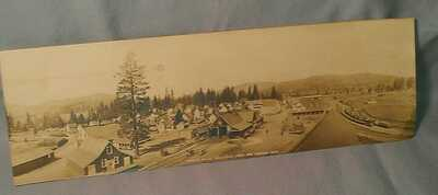 RPPC PANORAMIC VIEW GOLD RUSH ERA HOBART MILLS CA LUMBER CITY TRAIN BUILDINGS