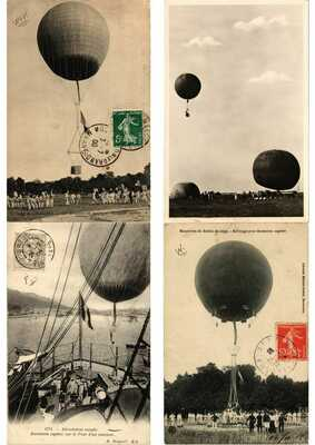BALLOONS AIRCRAFT, AVIATION 25 Vintage Postcards (L2896)