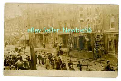 Middletown NY - JULY 4TH DOWNTOWN FIRE DISASTER - RPPC Chas Ketcham Postcard