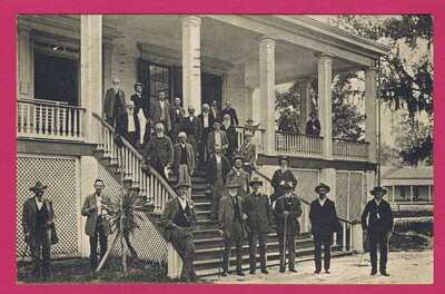 JEFFERSON DAVIS SOLDIERS HOME BILOXI MISSISSIPPI VINTAGE POSTCARD 1909