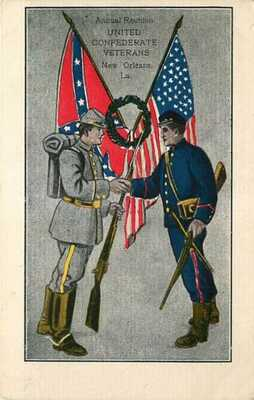 Postcard Confederate veterans Reunion, New Orleans, Louisiana - ca 1906