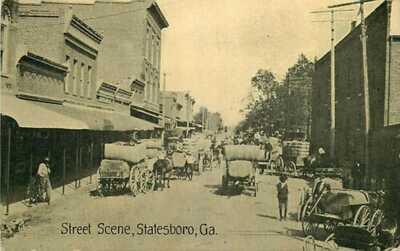 Postcard Street Scene, Statesboro, Georgia - circa 1908