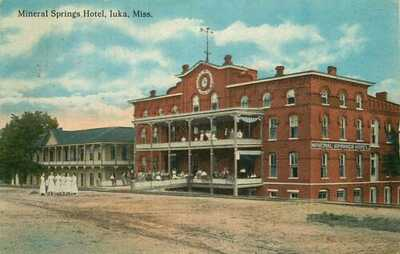 Postcard Mineral Springs Hotel, Iuka, Mississippi - used in 1915