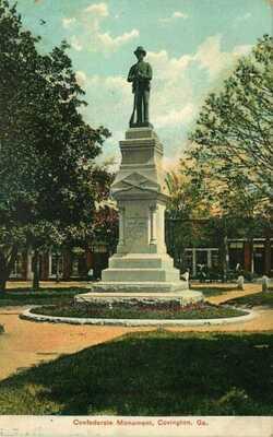 Postcard Confederate Monument, Covington, Georgia - used in 1909