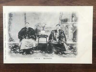 CHINA OLD POSTCARD CHINESE MANDARINS LI HUNG CHANG  SHANGHAI !!