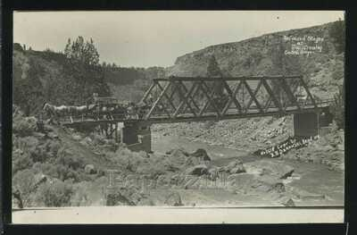 Rare OR Redmond RPPC c1908 REDMOND STAGES at TRAIL CROSSING by Bakowski 2618