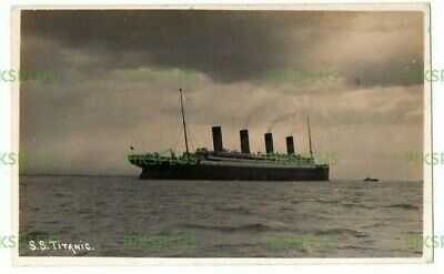 OLD POSTCARD WHITE STAR S.S. TITANIC IN THE SOLENT ? REAL PHOTO VINTAGE C.1912