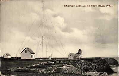 Cape Bear PEI Prince Edward Island Marconi Wireless Station c1910 Postcard