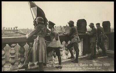 Germany 1920 Kapp Putsch Revolution Berlin Freikorps Halleschen Tor RPPC 79771