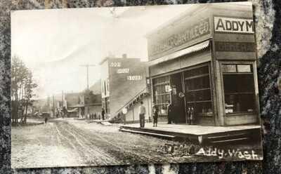 Addy WA Washington RPPC Main Street Downtown 1910 Drug store Mercantile