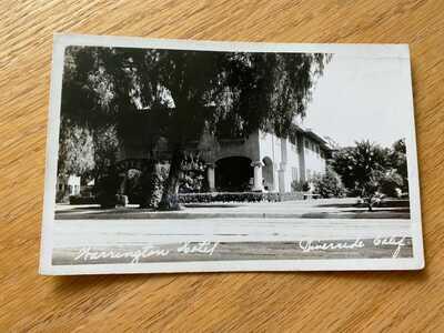 Riverside California The Warrington Hotel RPPC Real Photo Postcard CA 1939