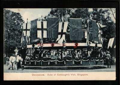 SINGAPORE DUKE OF CONNAUGHT'S VISIT DECORATIONS POSTCARD 1906 - S354