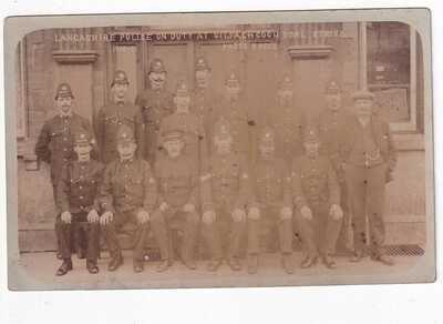 LANCASHIRE POLICE ON DUTY AT GILFACH COCH COAL STRIKE 1910-11