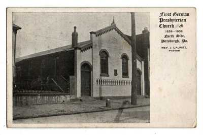 PA Pennsylvania Pittsburgh First German Presbyterian Church North Side Postcard