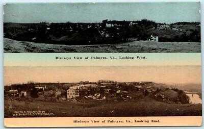 W.E. Burgess PALMYRA, Virginia VA - 2 Birdseyes c1910s Fluvanna County Postcard
