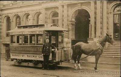 RPPC San Francisco,CA Horse-Pulled Streetcar Ferry Market Street Railway Company