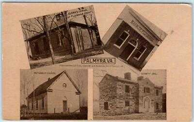 W.E. Burgess PALMYRA, Virginia VA ~ Multi View Fluvanna County c1910s  Postcard