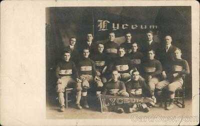 RPPC 1911 Pittsburgh Lyceum Football Team Club Allegheny County Postcard Vintage