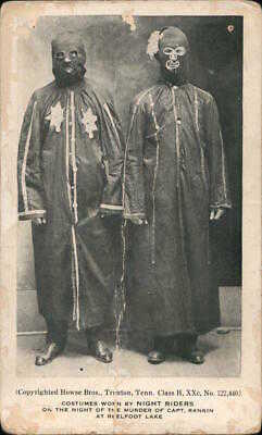 Men 1909 Rare: Costumes Worn by The Night Riders Howse Bros. Postcard 1c stamp