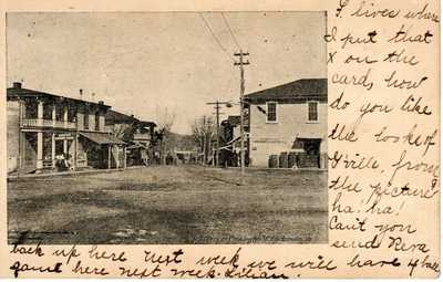 1908 GORDONSVILLE VA - Main Street Looking N. + Grocery Store & Boarding House