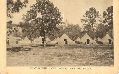 Houston, Texas - Camp Logan - Tent Scene
