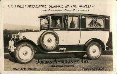 RPPC Oakland,CA Rare: Jordan Ambulance Company Cunningham,CA Alameda County