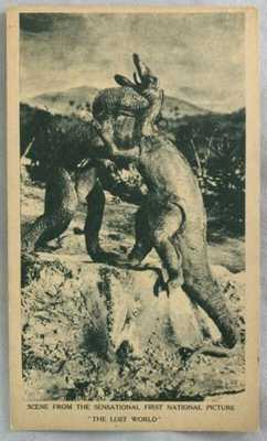Rare 1925 Postcard Silent Film First National Picture The Lost World Dinosaurs