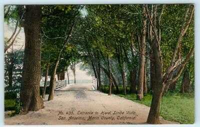 SAN ANSELMO, CA  Handcolored HOTEL LINDA VISTA Entrance~ Marin County 1910s