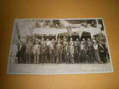 RPPC Carnival Officials Corn Carnival 1910 Mahomet IL Illinois Photo Postcard