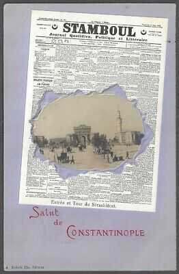 CONSTANTINOPLE, TURKEY ~ FRENCH NEWSPAPER & PHOTO INSET ~ OPF French P.O. 1903