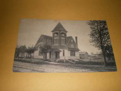 1910 Town View Presbyterian Church Sidney IL Illinois Champaign County Postcard