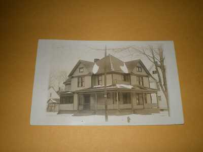 1912 RPPC View Rooming House '101' Urbana IL Illinois Photo Postcard