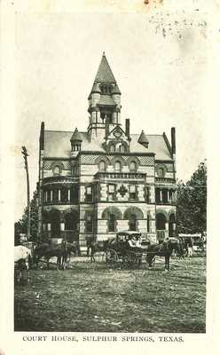 Sulphur Springs, Texas - Hopkins County Court House - 1909