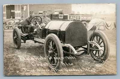 ELGIN AUTO RACES ANTIQUE REAL PHOTO POSTCARD RPPC GRANT ALCO RARE!