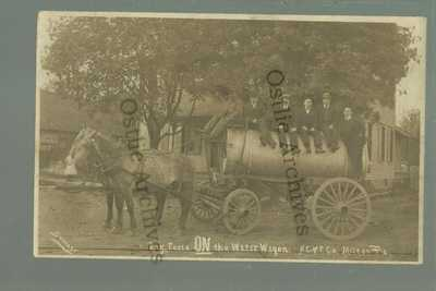 Milton PENNSYLVANIA RPPC 10 WATER WAGON Delivery RAILROAD American Car & Foundry