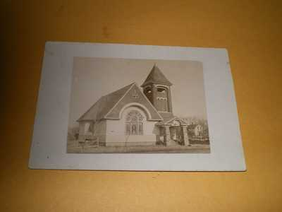 Old RPPC View Presbyterian Church Sidney IL Champaign County Photo Postcard