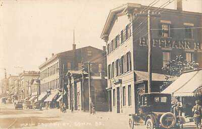 DERBY, CT, MAIN STREET, STORES, HOFFMAN HOUSE HOTEL, REAL PHOTO PC c 1910-20