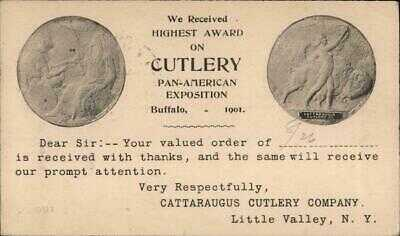 1908 Little Valley,NY Cattaraugus Cutlery-Pan-American Exposition,1901 Postcard