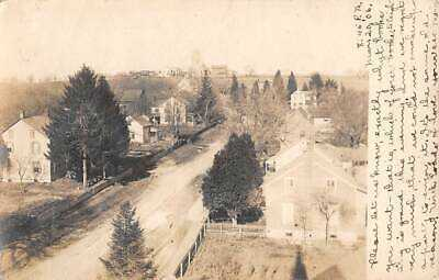 NAZARETH, NORTHAMPTON COUNTY, PA, STREET & HOMES OVERVIEW, RPPC used 1906