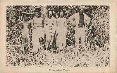 Easter Island Natives Capt. Benson Postcard Vintage Post Card