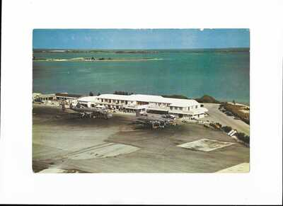 Bermuda airport large postcard Eastern Airlines Constellation TCA Canada DC-4M