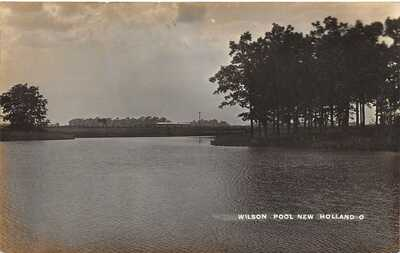 LP34    New Holland  Ohio   RPPC Postcard Wilson Pool
