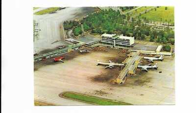 Colombia Bogota Airport Movifoto postcard air view Iberia VARIG Aerolineas Arg +