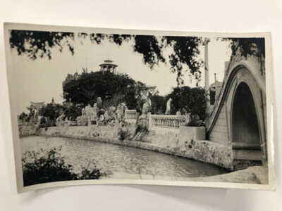 RPPC Real Photo Postcard SWATOW in Public Park China MEE CHEUNG