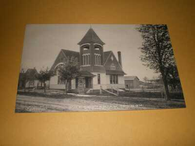 Old Town View Presbyterian Church Sidney IL Illinois Champaign County Postcard