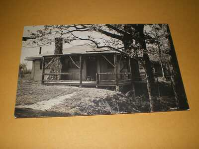 Old RPPC View Cabin w/ Fireplace Homer IL Illinois Champaign County Postcard
