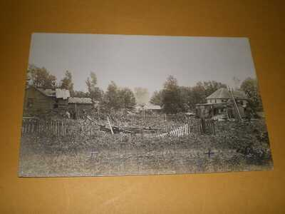 1911 RPPC Pesotum IL Illinois Champaign County Photo Postcard 3 Tornado Wreck