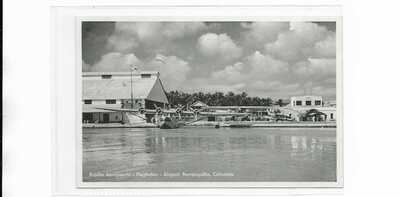 Colombia Barranquilla SCADTA seaplane airport postcard Pan American S42 etc